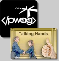 PWAG Logo with Talking Hands Gold Edition Logo